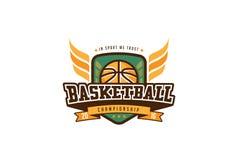 Distintivo Logo Design di pallacanestro Sport Team Identity Label della maglietta Fotografia Stock