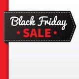 Distintivo nero del cuoio del nero di vendita di Firday royalty illustrazione gratis
