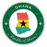 Distintivo patriottico circolare del Ghana Immagine Stock