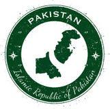 Distintivo patriottico circolare del Pakistan Fotografia Stock Libera da Diritti