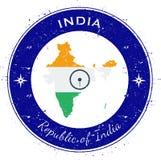Distintivo patriottico circolare dell'India Fotografie Stock