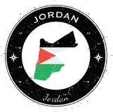 Distintivo patriottico circolare della Giordania Fotografie Stock Libere da Diritti