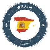 Distintivo patriottico circolare della Spagna Fotografie Stock Libere da Diritti
