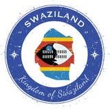 Distintivo patriottico circolare dello Swaziland Fotografia Stock Libera da Diritti