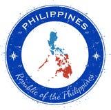 Distintivo patriottico circolare di Filippine Fotografia Stock