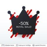 Distintivo reale di vendita di Black Friday Immagini Stock