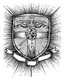 Distintivo religioso royalty illustrazione gratis