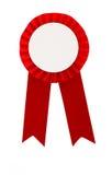 Distintivo rosso del nastro del premio Fotografia Stock