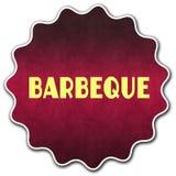 Distintivo rotondo del BARBECUE Fotografie Stock