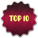 Distintivo rotondo del PRINCIPALE 10 Immagine Stock Libera da Diritti