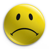 Distintivo - smiley triste Immagine Stock