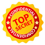 Distintivo top-secret Immagine Stock