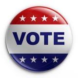 Distintivo - voto Fotografia Stock Libera da Diritti
