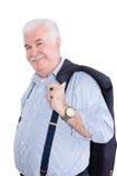 Distinto cavalheiro aposentado de cabelo branco imagens de stock