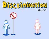Distinzione: discriminazione sessuale Immagini Stock Libere da Diritti