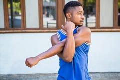 Distogliere lo sguardo bello dell'atleta Immagine Stock Libera da Diritti