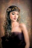 Distogliere lo sguardo del ritratto della donna di autunno Fotografia Stock Libera da Diritti