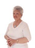Distogliere lo sguardo felice della donna dell'anziano Fotografie Stock Libere da Diritti