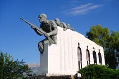 Distomo pomnik, Grecja Obrazy Royalty Free