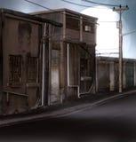distopian街道 免版税图库摄影