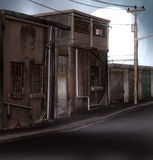distopian улица Стоковая Фотография RF
