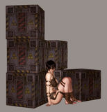 Distopian Girl vector illustration