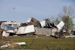 Distories grote vrachtwagens van Tornadoe Stock Fotografie