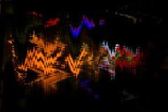 Distorsión abstracta digital de las interferencias de la textura del fondo de la pantalla Foto de archivo