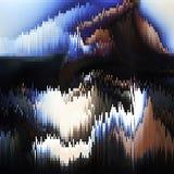 Distorsion för data för Digital bild Vektortekniskt felbakgrund stock illustrationer