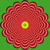Distorsione della striscia (illusione) Fotografia Stock