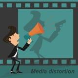 Distorsione di media Fotografia Stock Libera da Diritti