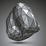 Distorted镀锌了3d从几何图创造的对象, c 免版税库存图片
