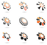 Distorted abstract icons. And design elements vector illustration