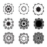Distorted abstract star icon set and logos. An illustration of Distorted abstract black star icon set   and logos Stock Images