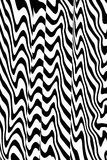 Distorted black and white lines Stock Photo