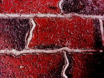 Distorted Brick. Deep red and black bricks that have ripples in them Stock Images