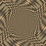 Distorted brown checkered background Royalty Free Stock Images