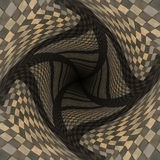 Distorted brown checkered background Stock Photography