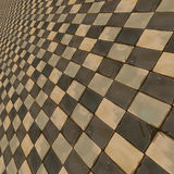 Distorted brown checkered background Stock Photos