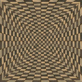 Distorted brown checkered background Stock Image