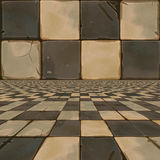 Distorted brown checkered background Royalty Free Stock Photography