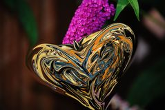 Distorted butterfly. Heart shaped warped and distorted butterfly wings Royalty Free Stock Photo