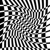Distorted chequered checkered pattern with rectangles and squa Stock Photo