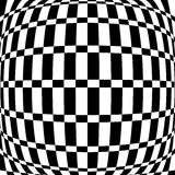 Distorted chequered checkered pattern with rectangles and squa Stock Images