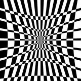 Distorted chequered checkered pattern with rectangles and squa Stock Photography