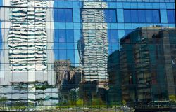 Distorted City Reflections Stock Images