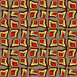 Distorted colored squares. Abstract background vector illustration seamless pattern of colored distorted squares Stock Photo