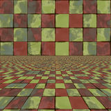 Distorted colorful checkers Stock Photo