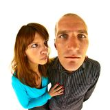 Distorted couple Royalty Free Stock Image