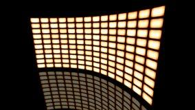 Distorted a courbé le tour visuel de sépia de vintage de mur vers la droite rendu 3d Images stock